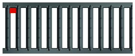 ACO Self® Stegrost Stahl verzinkt anthrazit pulverbeschichtet 500 mm