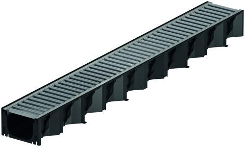 ACO Self® Hexaline 2.0 Rinnenkörper inkl. Stegrost Stahl verzinkt 1000 mm