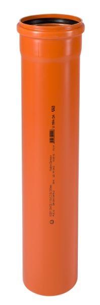 KGEM Rohr mit Muffe DN/OD 160 0,5 m