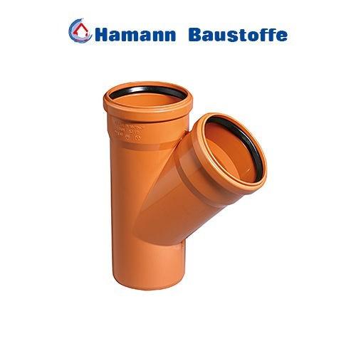 KG Einfachabzweig 45° DN 125/125 KGEA Abzweig Kunststoff Abwasserrohr